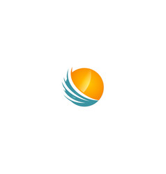 Round sphere abstract technology company logo vector