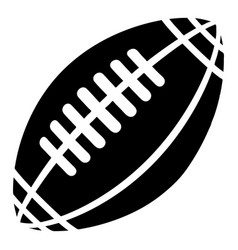 Rugby icon simple black style vector