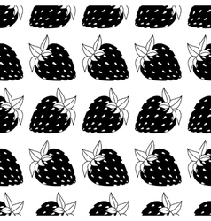 seamless of strawberries vector image vector image