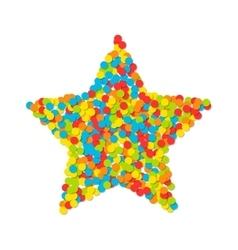 Star of colored confetti isolated on white vector image vector image