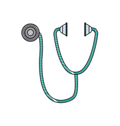 stethoscope medical equipment pulse health element vector image vector image