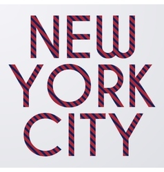 Stock typography New York City vector image vector image