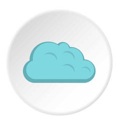 Storm cloud icon circle vector
