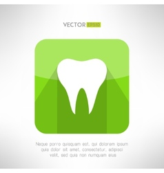 Tooth icon made in modern clean and simple flat vector image vector image