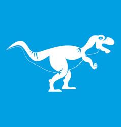 tyrannosaur dinosaur icon white vector image
