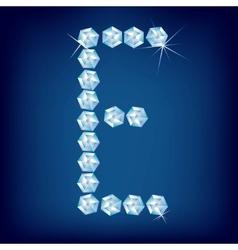 vector diamond alphabet letter e vector image