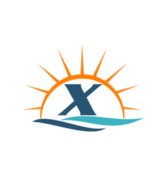 Wave sunset initial x vector