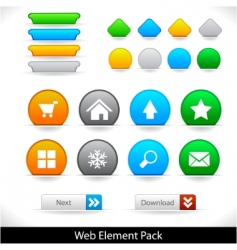 web elements pack vector image