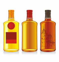 whiskey bottles vector image vector image