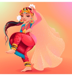Indian dancer representing the veil of maya vector