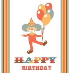 CLOWN BIRTHDAY CARD vector image