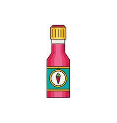 Chili sauce flat vector