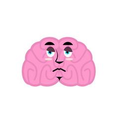 brain sad emotion human brains emoji sorrowful vector image