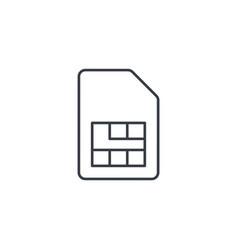 sim card thin line icon linear symbol vector image