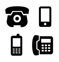 Phone icons set vector