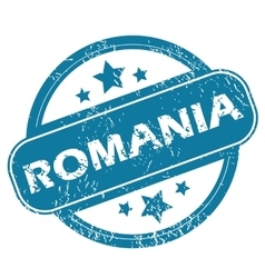 Romania round stamp vector