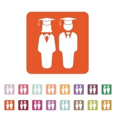 The student boy and girl icon school academy vector