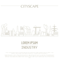 Cityscape graphic template industry city buildings vector