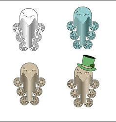 Cheerful octopus vector