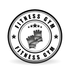 Fitness and gym design vector