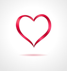 Abstract red heart on gray background creative vector