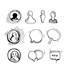 Web chat icons vector