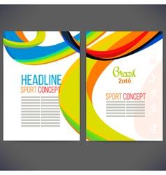 template design Brochure vector image