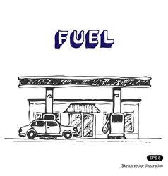 Fuel station vector
