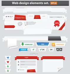 Web elements paper vector