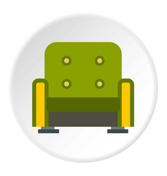 Armchair icon circle vector