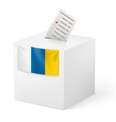 Ballot box with voting paper canary islands vector