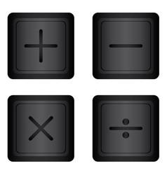 Basic mathematical symbol on white background vector