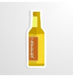 beer bottle cheers vector image vector image