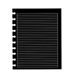 Black silhouette piece of paper icon vector