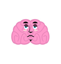 Brain sad emotion human brains emoji sorrowful vector