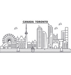 canada toronto architecture line skyline vector image vector image