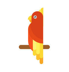 Cartoon parrot flying bird vector