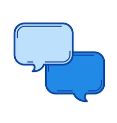 chat line icon vector image vector image