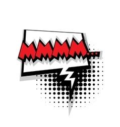 Comic text mmmm sound effects pop art vector