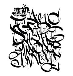 Font graffiti vandal vector