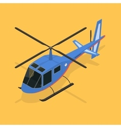 Helicopter Isometric View vector image