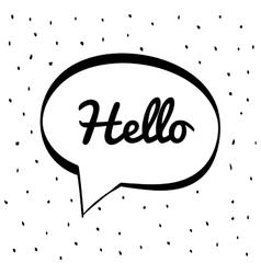 Hello icon bubble design graphic vector
