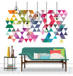 in a vintage living room vector image