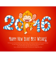 New year Chinese celebration card vector image