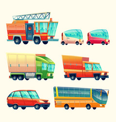 public and urban passenger transport vector image vector image