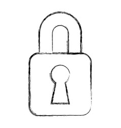 Safe padlock isolated icon vector