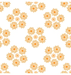 Stylized orange suns pattern on a white background vector
