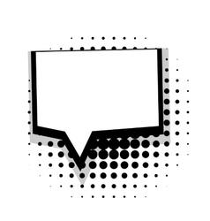 Template comic speech square bubble vector