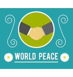 World peace concept vector