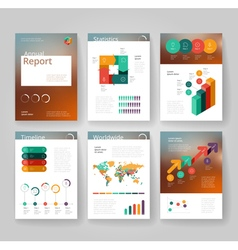 Business brochure design template vector